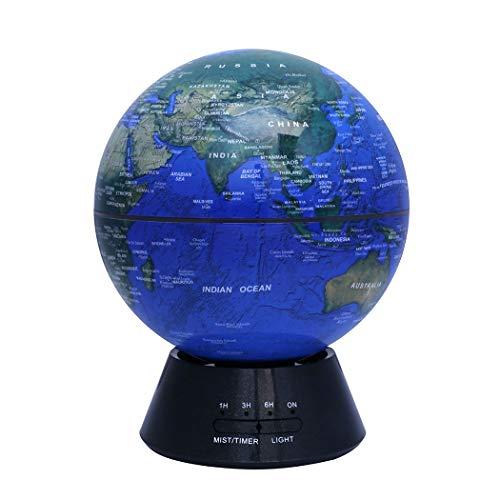 Globe-diffusor (Mzq-yq Luminous Globe Aromatherapie Maschine Startseite Aroma Luftbefeuchter Ultraschall Stumme Schlafzimmer Bunte Nachtlicht Schreibtischoberfläche Erfrischende Frische Beruhigende (Farbe : Dark))