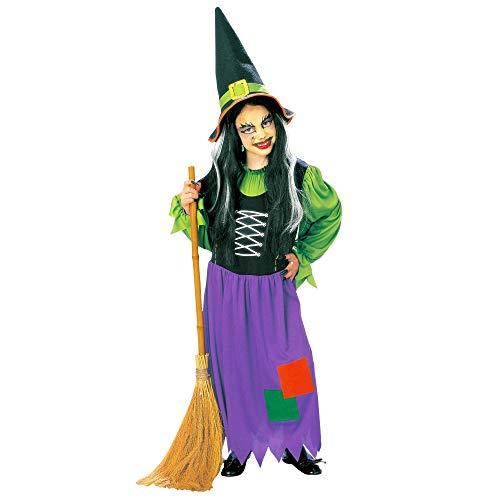 WIDMANN Chicas Bruja Azul Niño / Verde 140 cm de Vestuario Medio 10.8 años (140 cm) para Disfraces de Halloween