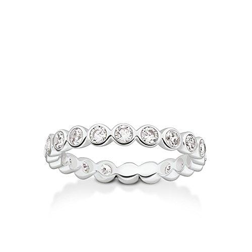 Thomas Sabo Damen-Ring Glam & Soul 925 Sterling Silber Zirkonia weiß Gr. 54 (17.2) TR2110-051-14-54