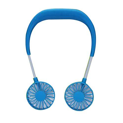 Forbestest USB aufladbare Faule Umhängen Stil Dual-Lüfter-Reisen Outdoor Indoor Wearable Neckband Fan