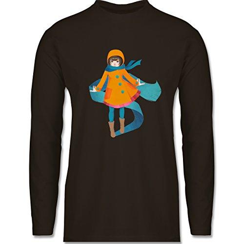 Shirtracer Statement Shirts - Herbstspaziergang - Herren Langarmshirt Braun
