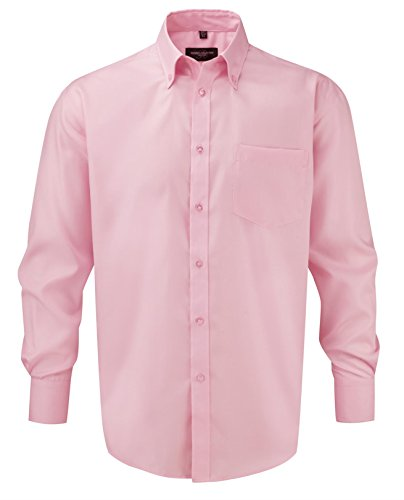 Russell Collection -  Camicia Casual  - Uomo Classico rosa