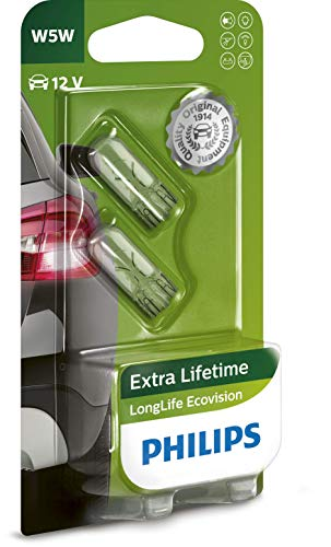 Philips 12961LLECOB2 Bombillas Especiales, W5W