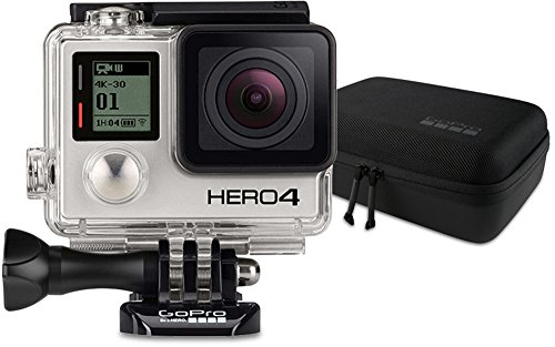 GoPro HERO4 Black Adventure Actionkamera (12 Megapixel, 41,0 mm x 59,0 mm x 29,6 mm) + GoPro Casey Camera Mounts Case (Wasserbeständig)