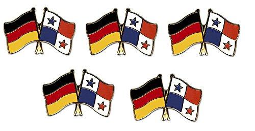 5er Pack Deutschland - Panama Freundschaftspin Yantec Pin Flagge (Pin Panama Flagge)