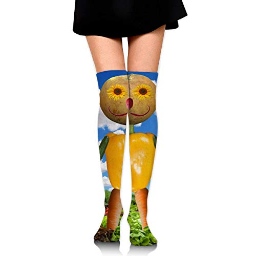 HRTSHRTE Happy Thanksgiving Day Vegetable Dolls Ankle Stockings Over The Knee Sexy Womens Sports Athletic Soccer Socks Red Hat Lady Doll