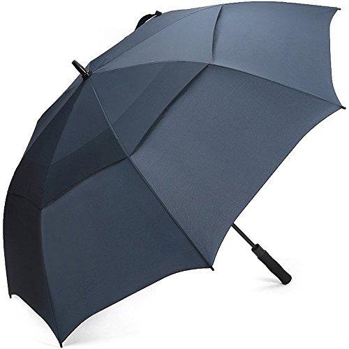 G4Free Parapluie de Golf 68 Inch Tres Robuste Toile Aere Conception Hautement Technique pour Combattre Les Dommages Causes Par Les Retournement Ouverture automatique