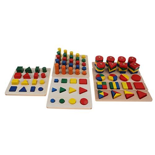 b29bb67a3e B Blesiya 8 in 1 Montessori Sensorial in Legno Giochi Educativi e  Scientifici per Bambini 3