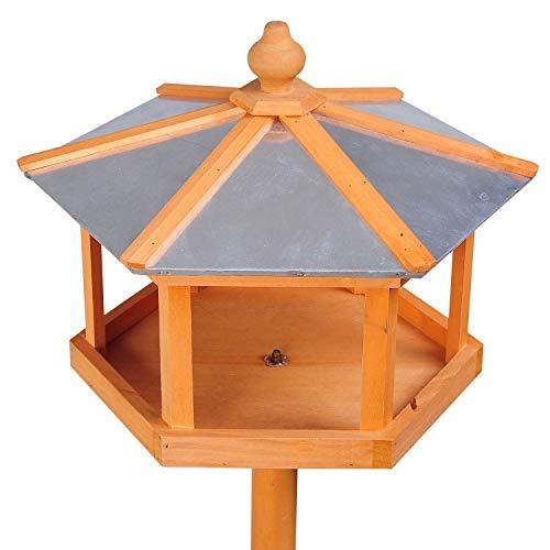 PawHut Vogelhaus mit Ständer und Zinkdach - 5