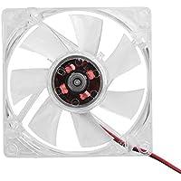 Garsent - Ventilador de PC para Ordenador, 80 mm, luz LED, 12 V, 4 Pines, Ligero Ventilador de refrigeración para Ordenador
