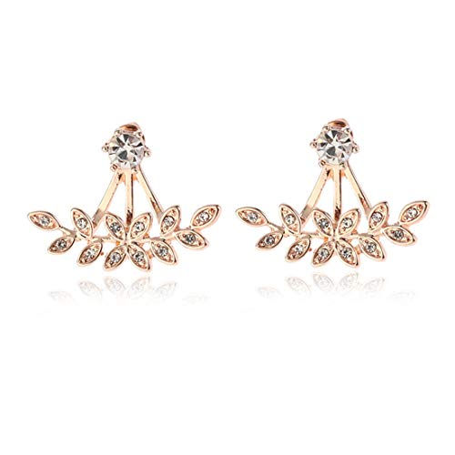 Ohrstecker/Ohrringe/Ohrring Jackets/Ohrklemmen/Ohrhänger/Ohrclips/Front-Back-Ohrringe/Creolen/kreative ohrringe symmetrisch, vorne und hinten ohrringe,rose gold