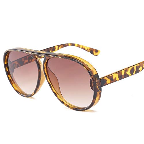 QDE Sonnenbrillen Sonnenbrille Frauen/Männer Wide Frame Transparente Sonnenbrille Large Blue Vintage Retro Driving, D