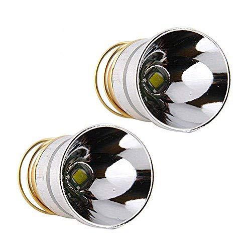 Veeki LED-Taschenlampenbirne 1000 Lumen, sanfter Reflektor Cree T6, Einfacher Modus 3.0 - 18 V, Drop-In-P60-Design: Ultrafire, Surefire, Hugsby, C2 G2 Z2 6P 9P G3 S3 D2, Ultrafire 501B 502B 3 Stück -