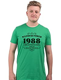 Bang Tidy Clothing Men's 30th Birthday T Shirt Manufactured 1988 T Shirts 30th Birthday Gifts