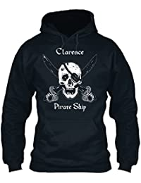 teespring Men's Novelty Slogan Hoodie - Clarence's Pirate Ship
