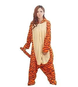 combinaison d 39 hiver chaude en flanelle pyjama une pi ce unisexe pour adulte pyjama tigrou saut. Black Bedroom Furniture Sets. Home Design Ideas