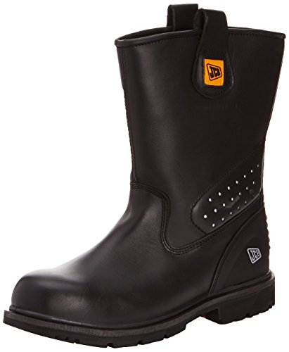 JCB Unisex-Adult Trackpro/B Safety Boots Black 12 UK, 46 EU