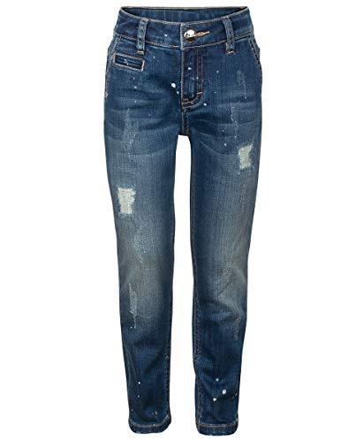 Gulliver Mädchen Jeans Hose   Farbe Blau   Baumwolle   Gerade Passform   Distressed Optik   für 2-6 Jahre -
