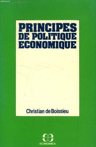 Principes de politique économique par  Christian de Boissieu