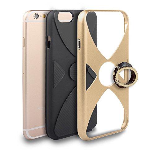 iPhone 6 Plus/6S Plus Coque, Voguecase 2 in 1 TPU + PC [Anneau Series] avec Absorption de Choc, Etui Silicone Souple, Légère / Ajustement Parfait Coque Shell Housse Cover pour Apple iPhone 6 Plus/6S P Or
