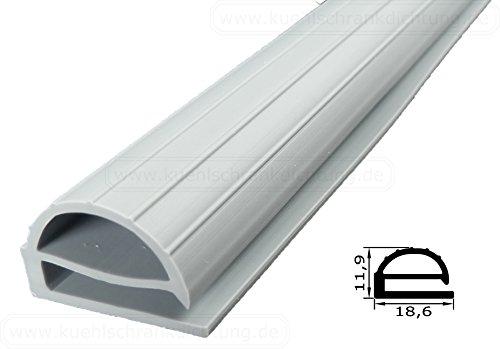 Preisvergleich Produktbild Profildichtung - Profil 102 - 2000mm - Farbe: Grau (Kühlschrankdichtung)