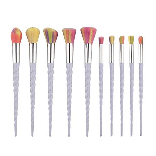 OVERMAL 10Pcs Mini Maquiller L'Eye-Liner De Sourcil De La Base Blush Les Pinceaux CosméTiques De Concealer