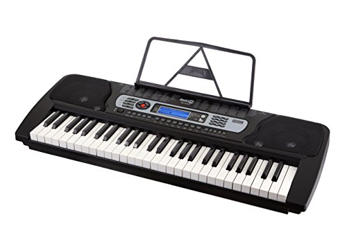 RockJam 54-Key Portable Digital Piano Keyboard with Music Stand and Interactive LCD Screen