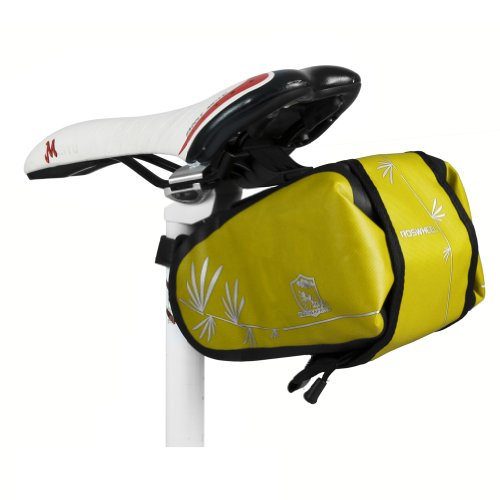 waterwood-roswheel-bicycle-saddle-outdoor-pouch-seat-bag-bicycle-tail-bag-waterproof-yellow-and-blac
