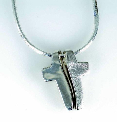 °° Halskette KREUZ 2-TEILIG mit Anhänger und Kette aus 925 Silber