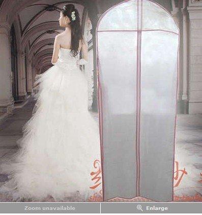 Romote 155 * 60cm Brautkleid-Kleid-Kleid-Speicher tragen Beutel Abdeckung Abend Schutz Weiß Neu