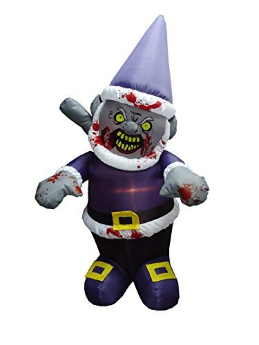 Halloween Inflatable-Zombie Gnome With Icepick-Halloween Yard Decoration by Morbid (Yard Inflatables Halloween)