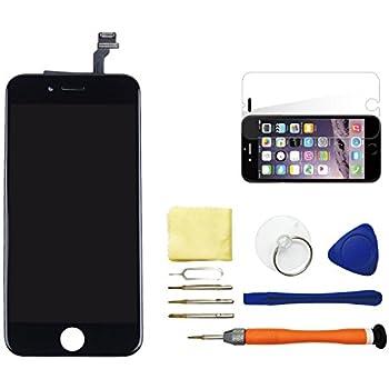 Original Apple iPhone 6 Front Ersatz Display Glas Schwarz zur ...