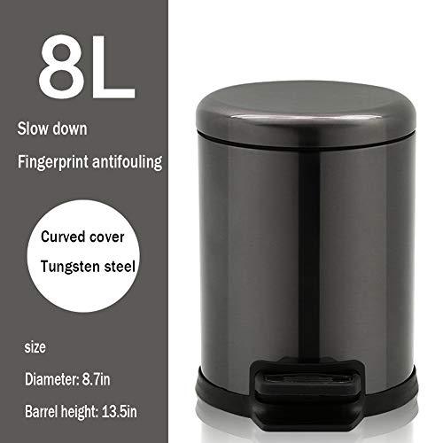 80-85 L Fabriqu/ée au Royaume-Uni Noir KetoPlastics CrazyGadget/® Poubelle noire /à poign/ées verrouillables en plastique robuste