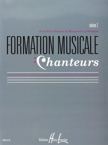 Formation Musicale Chanteur Vol 2