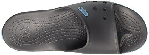 crocs Unisex-Erwachsene Crocband2slide Pantoletten Grau (Graphite/Electric Blue)