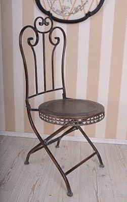 Nostalgischer Stuhl Klappstuhl Haus & Garten wie Anno 1900 Antik Look Plazzo Exclusiv