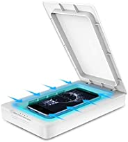 infinitoo Portable Cell Phone Sanitizer UV Light Disinfection Box, Antiviral Sterilizing Phone Cleaner with Ar