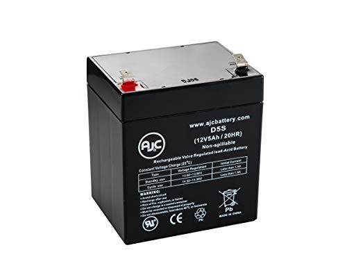 Batterie AJC Battery Brand Replacement for Werker WKA12-5F 12V 5Ah Acide scellé de Plomb - Ce Produit est Un Article de Remplacement de la Marque AJC®