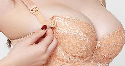 Longless coppa stampo sottile con anello in acciaio anti-caduta fibbia grande tazza materna reggiseno allattamento B