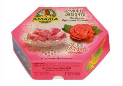 Die traditionellen Türkischen Honig 300 g/10,5 Unzen - 2 Boxen - Rose Aroma - Zypern Loukoumi (Rosen-aroma)