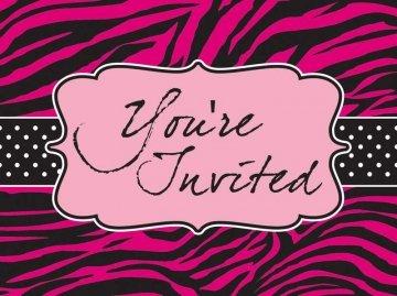 Pink Zebra Boutique Invitations