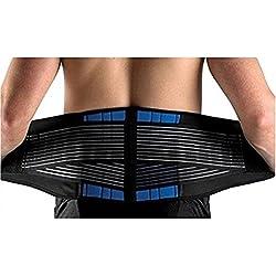 """SUAVER Deluxe Neoprene Doppelriemen Rückenbandage Lendenwirbelstütze Bauch Bandage Linderung bei Ischias für Herren und Damen (Schwarz, M / 28-32"""")"""