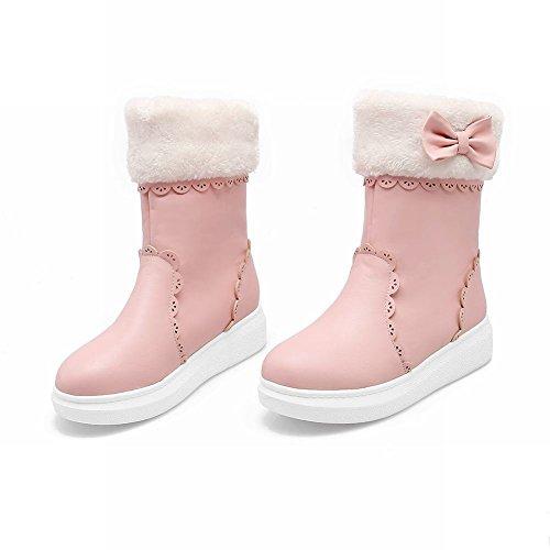 Mee Shoes Damen süß mit Schleife kurzschaft Schneestiefel Pink