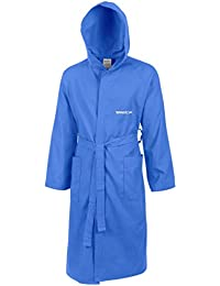 Speedo - Albornoz para adulto, unisex, microfibra azul Neon Blue Talla:S