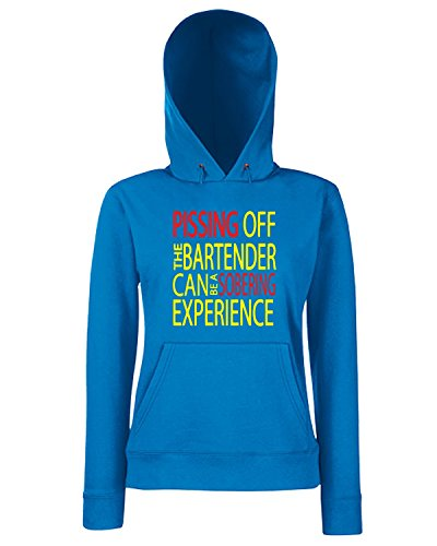T-Shirtshock - Sweats a capuche Femme BEER0269 Pissing Off the Bartender Bleu Royal