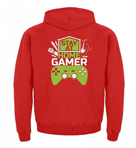 Videospiele Shirtee Online Home Multiplayer Gaming Gamer Zocker Kinder Stay Videogames Hochwertiger At Hoodie Feuerrot Zocken RXRP8rT