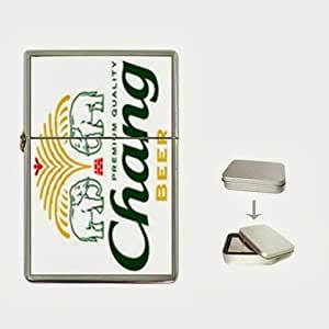 chang beer logo Flip Top Lighter and Case Box