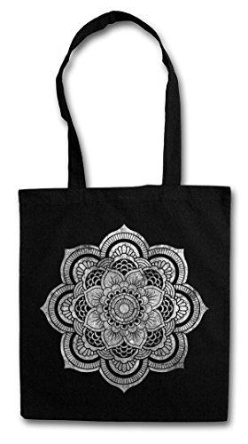 FLOWER MANDALA II Shopper Cotton Bag Einkauftasche Einkaufstasche Tasche Stofftasche Jutebeutel Beutel...