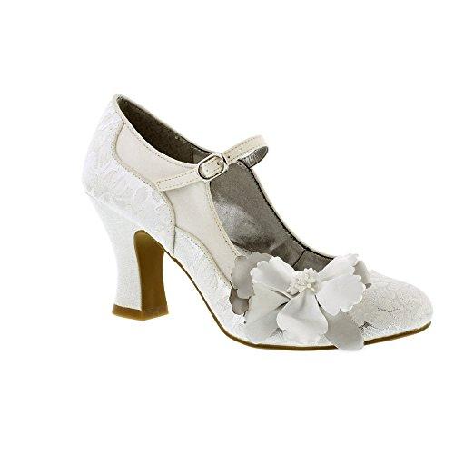 Ruby Shoo Madelaine - White/Silver 8 - Madeline Schuhe