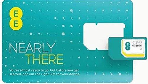 Preisvergleich Produktbild EE 4G Pay As You Go SIM-Karte (Micro, Nano, Standard)–austauschbar Anrufe Texte Internet Daten für iPhone, iPad Tablet Galaxy Handys von fone-stuff